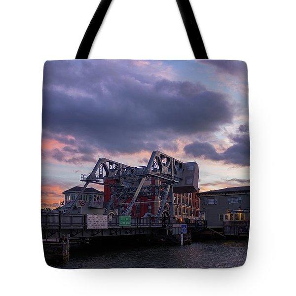 Mystic Bridge Sunset 2016 Tote Bag