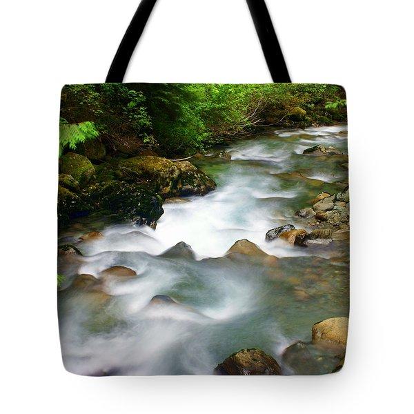 Mystic Creek Tote Bag