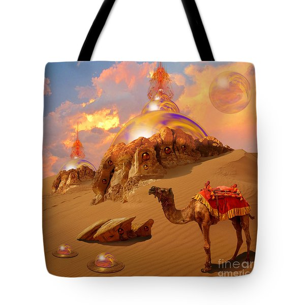Tote Bag featuring the digital art Mystic Desert by Alexa Szlavics