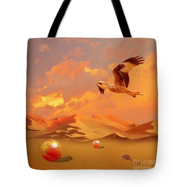 Tote Bag featuring the digital art Mystic Desert Another Planet by Alexa Szlavics