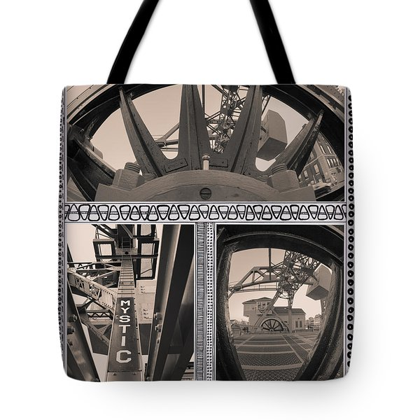 Mystic Drawbridge In Mystic Ct Tote Bag