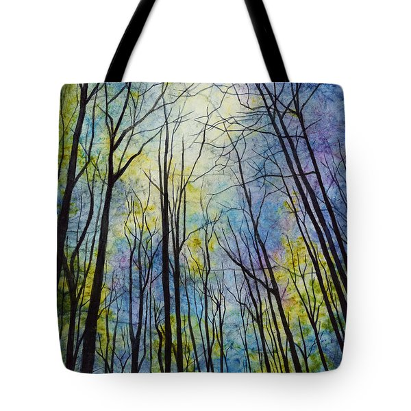 Tote Bag featuring the painting Mystic Forest by Hailey E Herrera