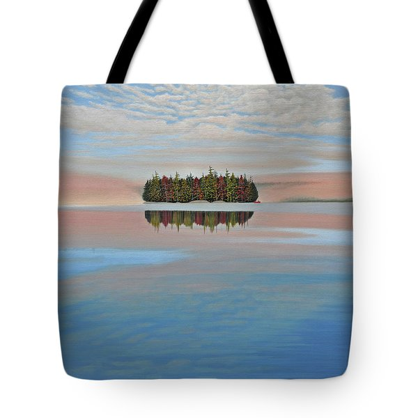 Tote Bag featuring the painting Mystic Island by Kenneth M  Kirsch