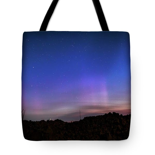 Tote Bag featuring the photograph Mystic Lights by Cat Connor