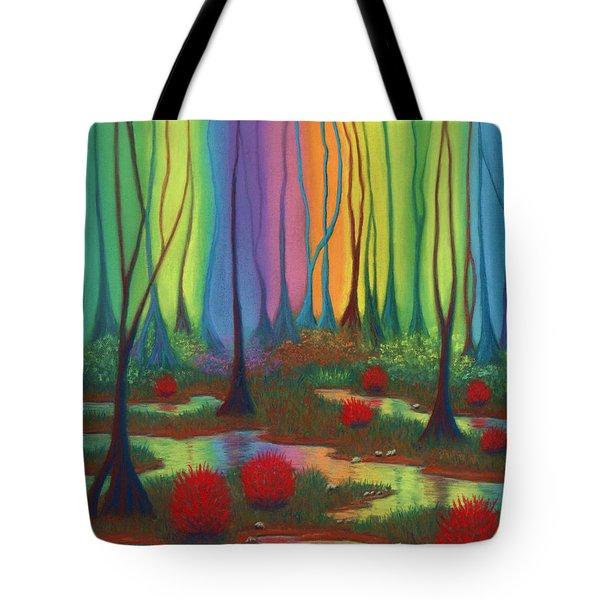 Mystic Marsh 01 Panel B Tote Bag