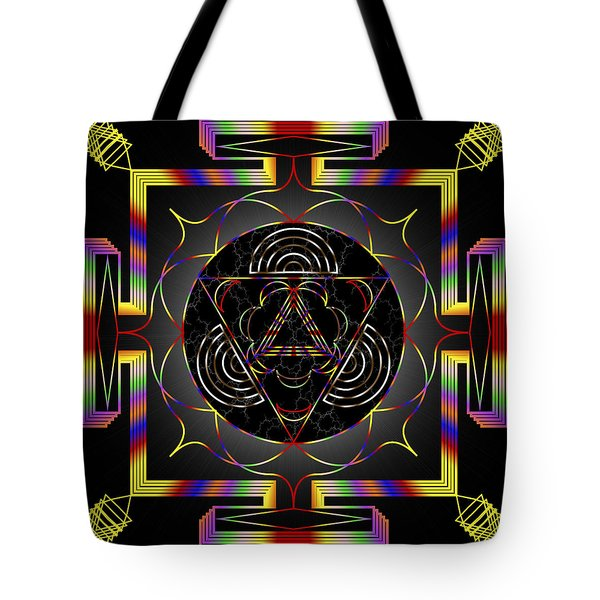 Tote Bag featuring the digital art Mystic Meanings by Mario Carini