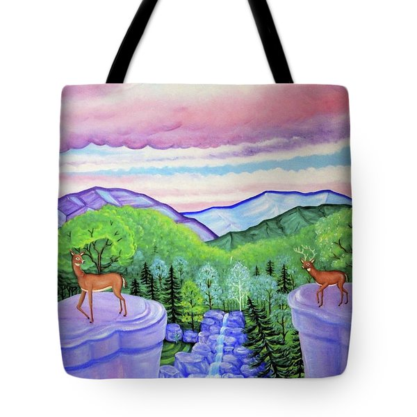 Mystic Mountain Tote Bag by Tracy Dennison