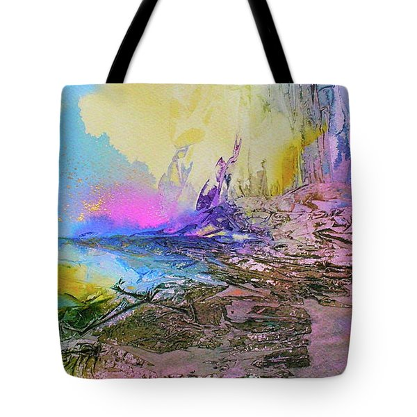 Tote Bag featuring the painting Mystic Rendevous by Mary Sullivan