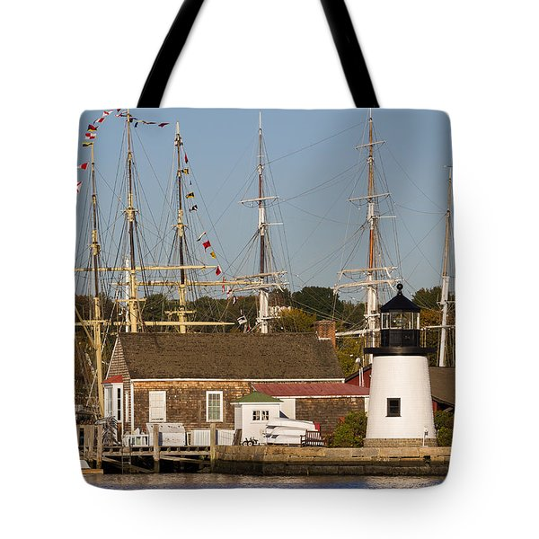 Mystic Seaport Lighthouse Tote Bag