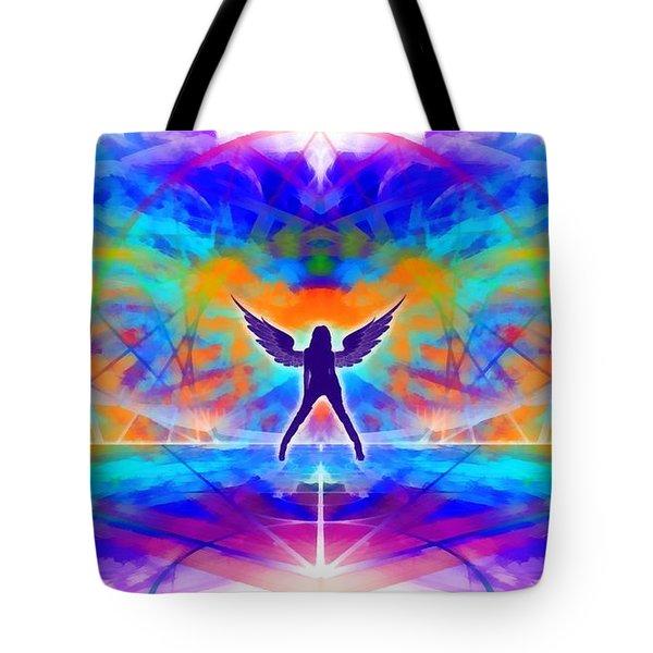 Tote Bag featuring the digital art Mystic Universe 15 by Derek Gedney