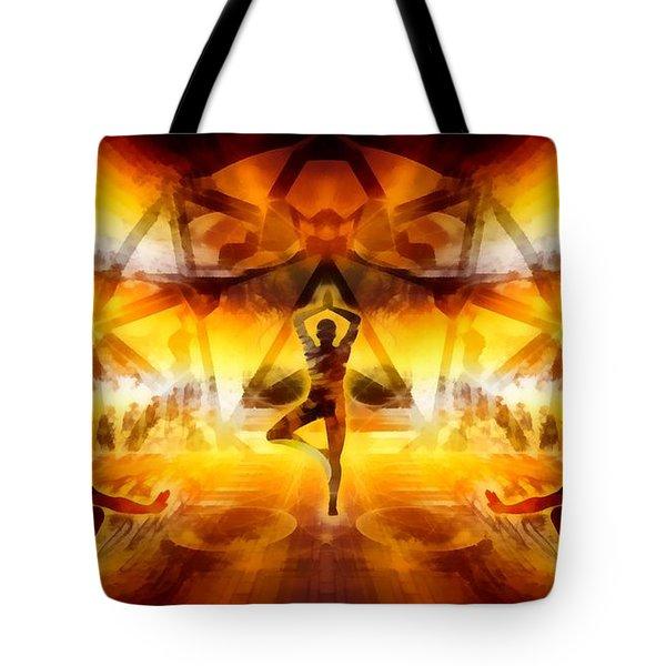 Tote Bag featuring the digital art Mystic Universe 7 by Derek Gedney