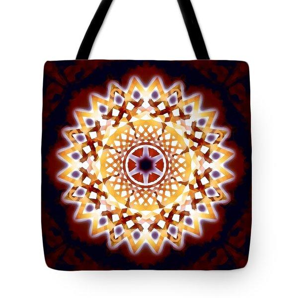 Tote Bag featuring the digital art Mystic Universe 7 Zodiac Lattice by Derek Gedney