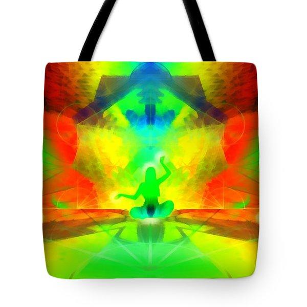 Tote Bag featuring the digital art Mystic Universe 9 by Derek Gedney