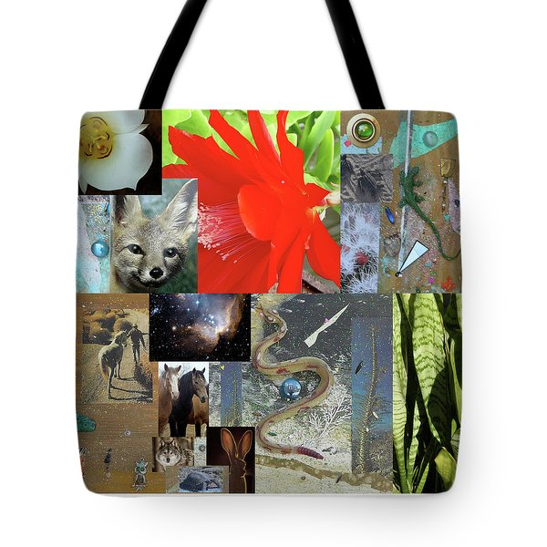 Mystical Desert Compilation Tote Bag by Mary Ann  Leitch