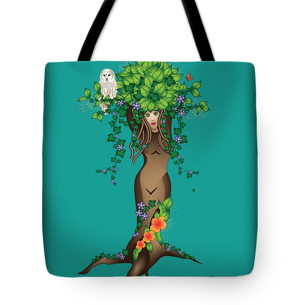 Mystical Maiden Tree Tote Bag by Serena King