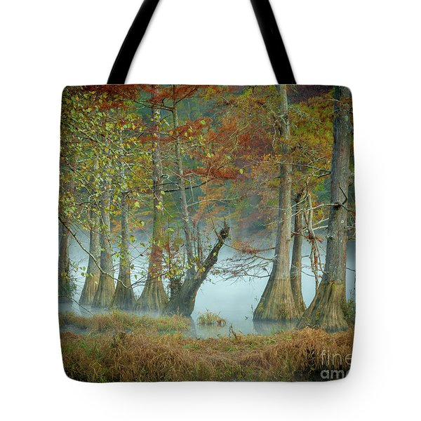 Tote Bag featuring the photograph Mystical Mist by Iris Greenwell