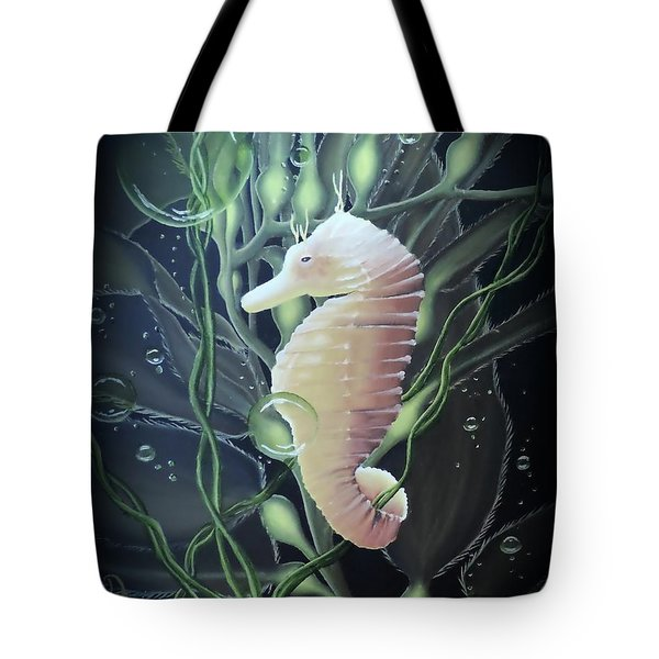 Tote Bag featuring the painting Mystical Sea Horse by Dianna Lewis
