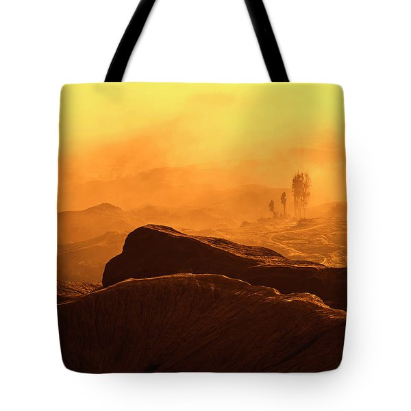 Tote Bag featuring the photograph mystical view from Mt bromo by Pradeep Raja Prints