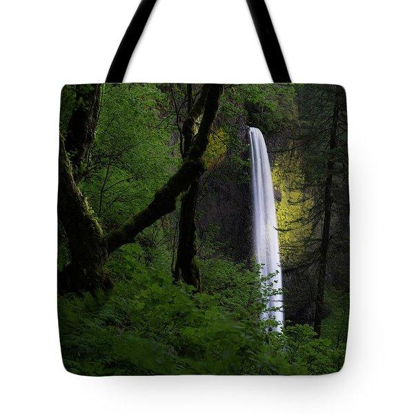 Mystical Waterfall Tote Bag
