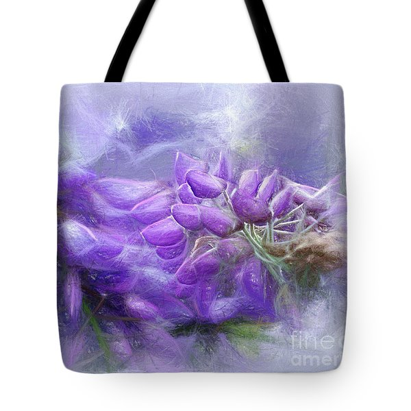 Tote Bag featuring the photograph Mystical Wisteria By Kaye Menner by Kaye Menner