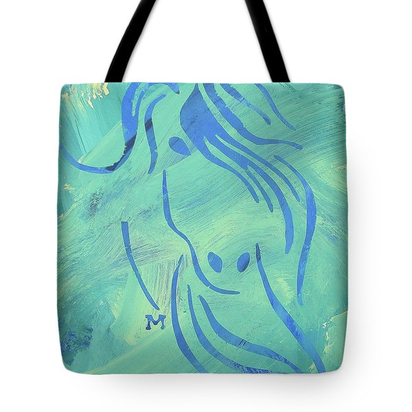 Tote Bag featuring the painting Mystique by Candace Shrope