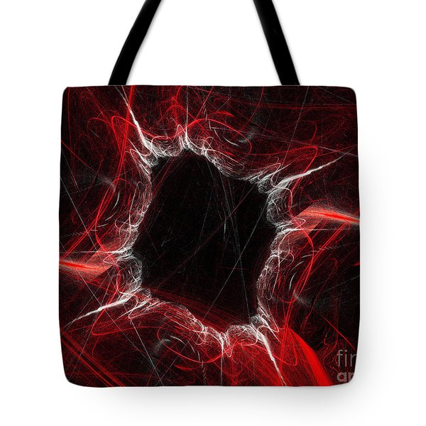 Mystry Through The Black Hole Tote Bag by Andee Design