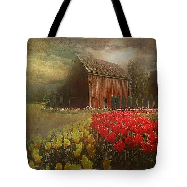 Mythical Tulip Farm Tote Bag by Jeff Burgess
