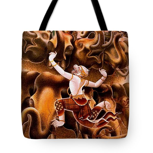 Mythical Warrior Of Siam Tote Bag