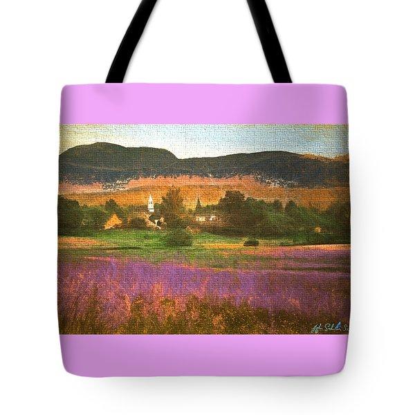 Tote Bag featuring the digital art N. Troy Vt. by John Selmer Sr
