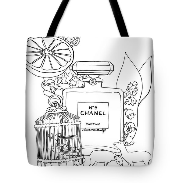 Tote Bag featuring the digital art N0.5 by ReInVintaged