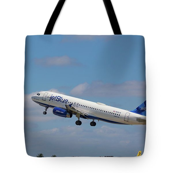 N625jb Jetblue At Fll Tote Bag
