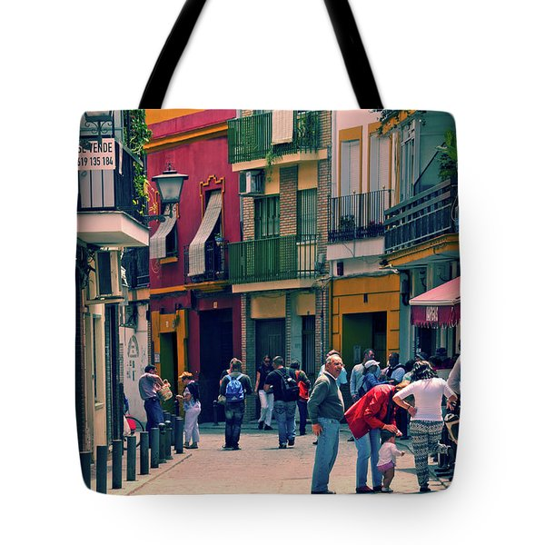 Tote Bag featuring the photograph Triana On A Sunday Afternoon 1 by Mary Machare