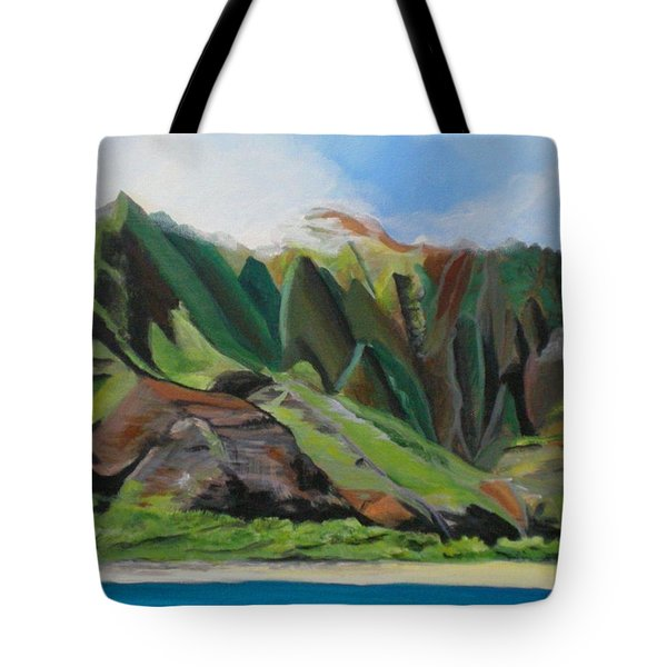 Na Pali Cruise Tote Bag by Marionette Taboniar