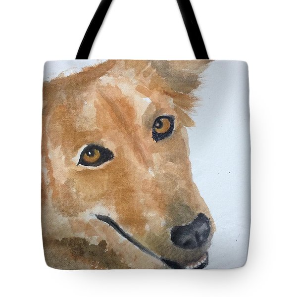 Tote Bag featuring the painting Naanu by Elizabeth Mundaden