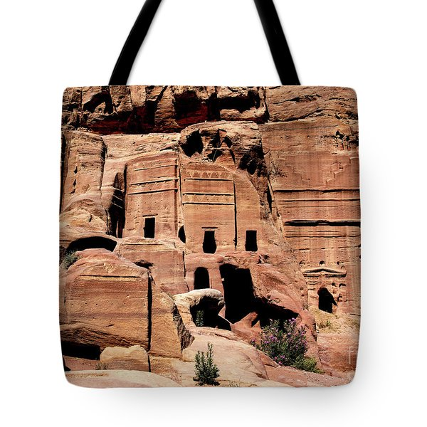 Tote Bag featuring the photograph Nabataeans' City by Mae Wertz