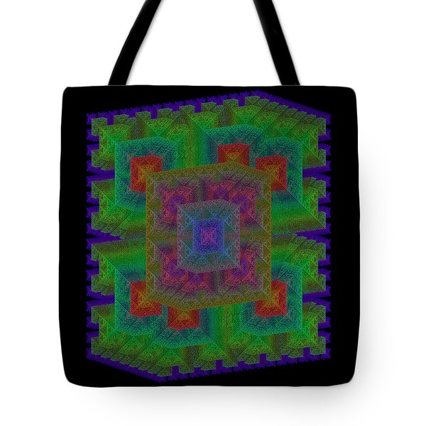 Tote Bag featuring the digital art Nadiations by Andrew Kotlinski