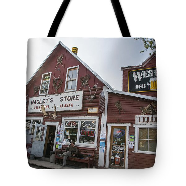 Nagleys Store Talkeetna Alaska Tote Bag by Allan Levin