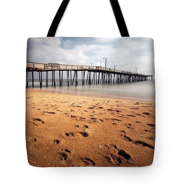 Nags Head Fishing Pier Tote Bag