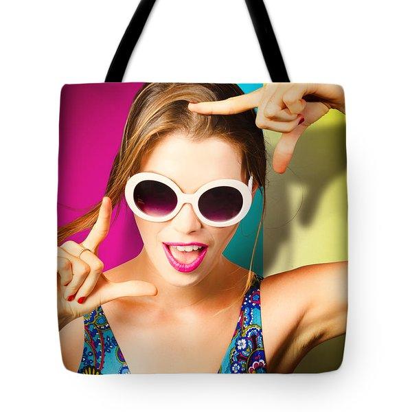Nail Polish Pin-up Girls Tote Bag