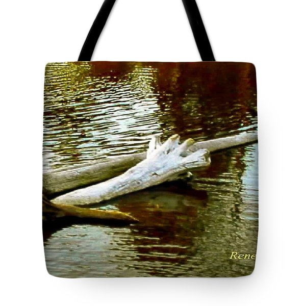 Nailbiting Driftwood Tote Bag by Sadie Reneau