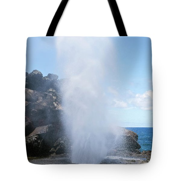 Nakalele Blowhole Tote Bag
