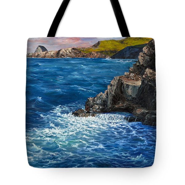 Tote Bag featuring the painting Nakalele Point Maui by Darice Machel McGuire