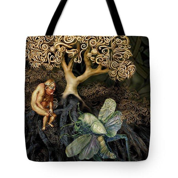 Naked And Afraid Tote Bag by Hans Neuhart