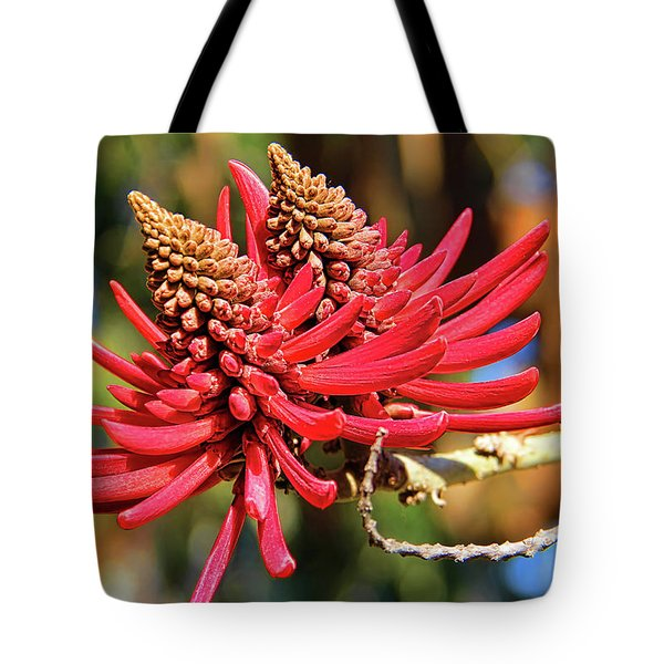 Naked Coral Tree Flower Tote Bag