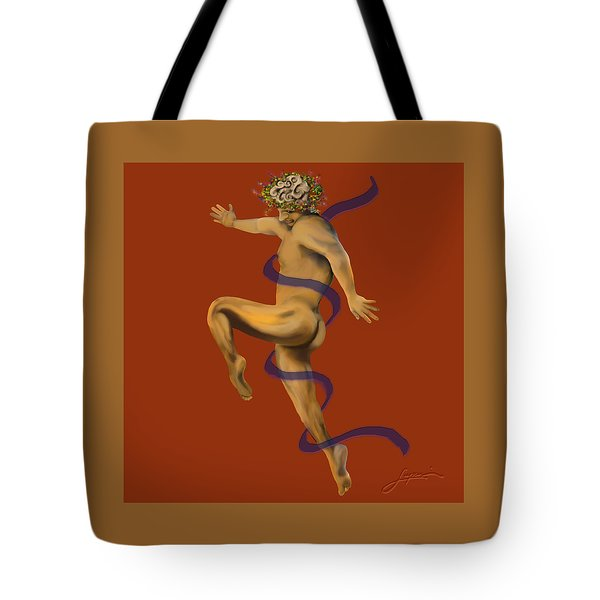 Tote Bag featuring the painting Naked Dancer #4 by Thomas Lupari