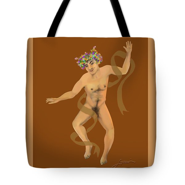 Tote Bag featuring the painting Naked Dancer #7 by Thomas Lupari