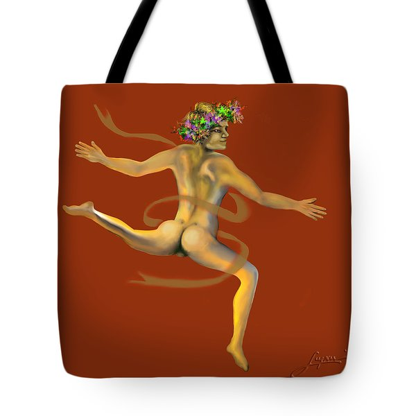 Tote Bag featuring the painting Naked Dancer by Thomas Lupari