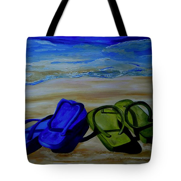 Naked Feet On The Beach Tote Bag by Patti Schermerhorn