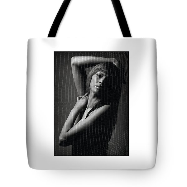 Naked Female With Hand On Head Tote Bag