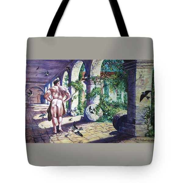 Naked In The Cloisters Tote Bag